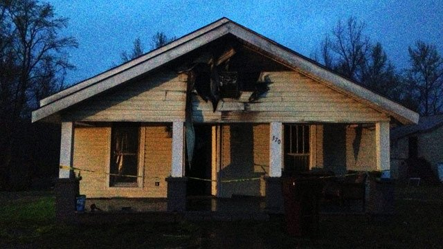 The fire damaged home in Cowpens. (April 7, 2014/FOX Carolina)