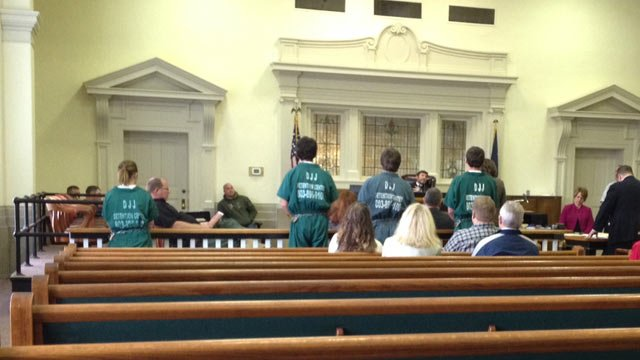 The four teens appeared in court on Monday. (April 7, 2014/FOX Carolina)
