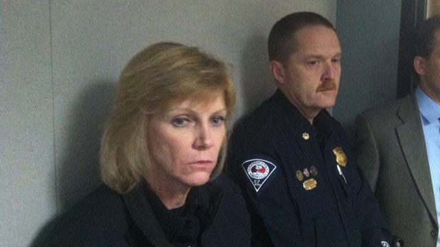 Chief Terri Wilfong and Major Mike Gambrell (April 7, 2014/FOX Carolina)