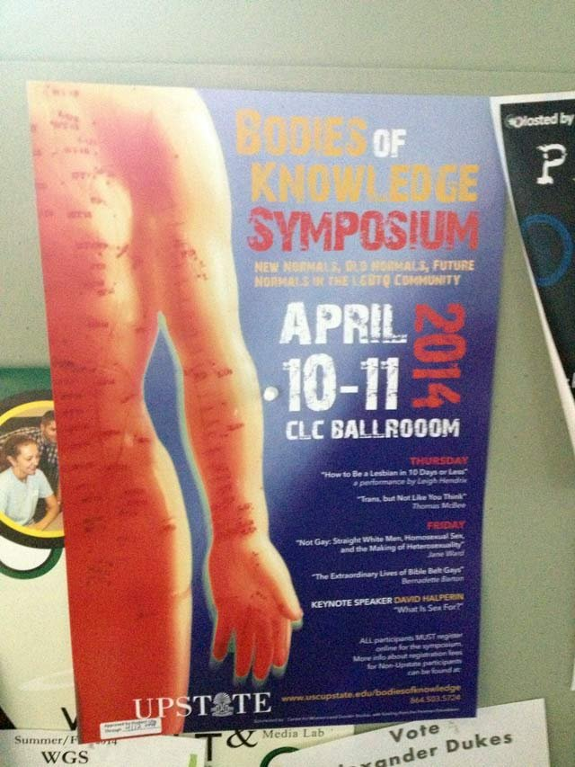 Bodies of Knowledge Symposium (April 7, 2014/FOX Carolina)