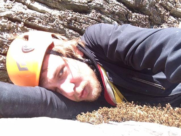 Rock climber Jackson Depew after falling. (Source: Jackson Depew)