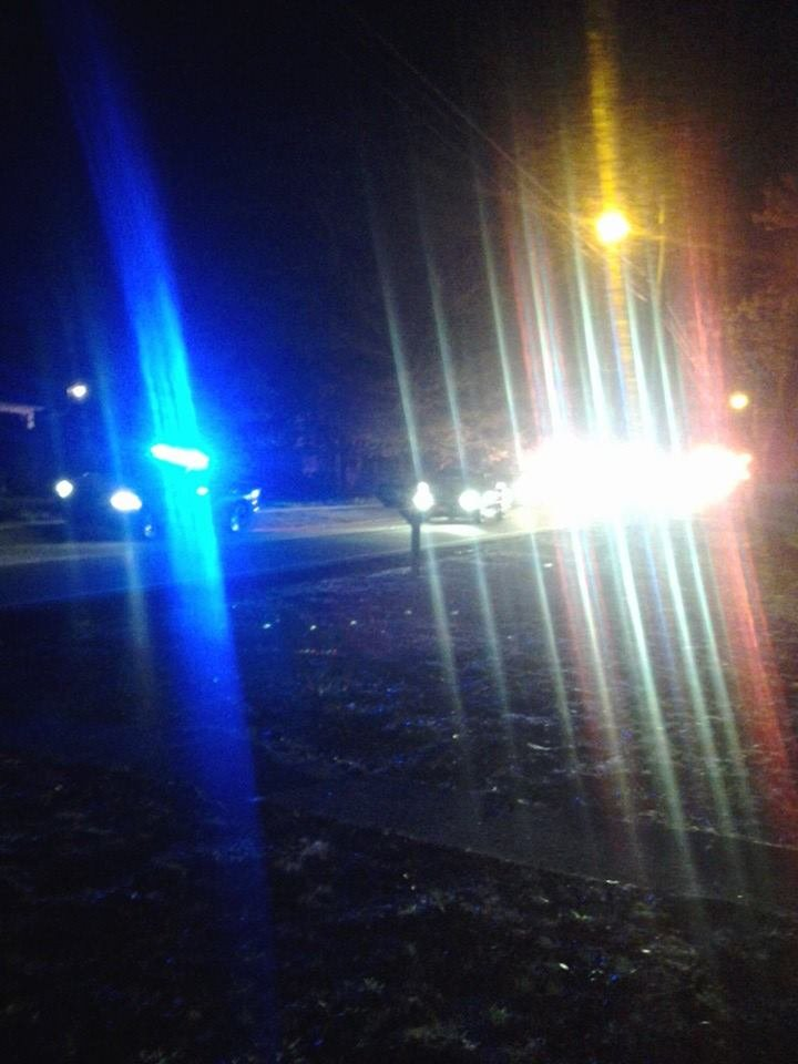 Police were seen on Highland Road on Wednesday night. (April 9, 2014/iWitness Anna L.)