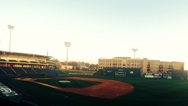 The Greenville Drive play at Fluor Field in downtown Greenville. (April 10, 2014/FOX Carolina)