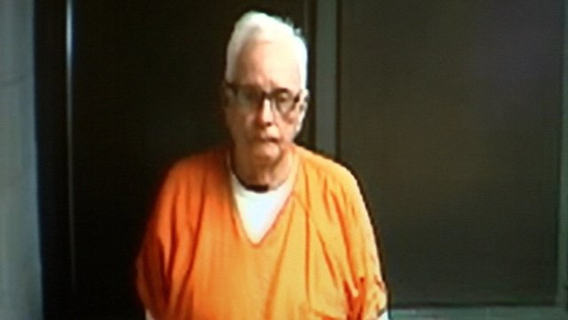 Kenneth Campbell appears via a video monitor in court Friday. (April 11, 2014/FOX Carolina)