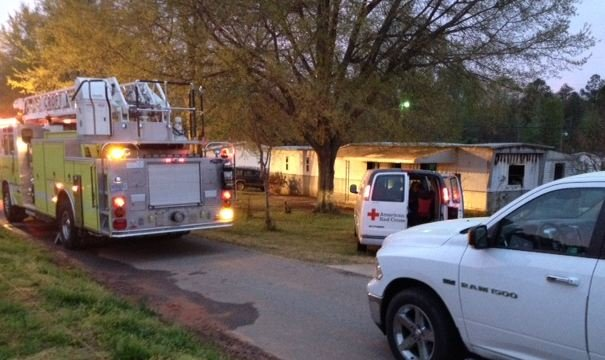The Roebuck Fire Department and the American Red Cross of the Western Carolinas responded to a fire that destroyed a home on Cherry Lane Monday morning. (FOX Carolina)