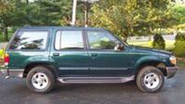 Police are looking for the driver of a similar vehicle. (Source: Forest City PD)