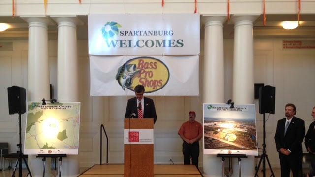 Spartanburg County Councilman David Britt spoke at the Chapman Cultural Center to announce the store. (April 16, 2014/FOX Carolina)