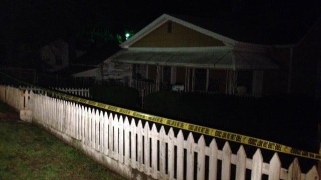 Police have crime scene tape up around Davis' Union Boulevard home. (April 16, 2014/FOX Carolina)