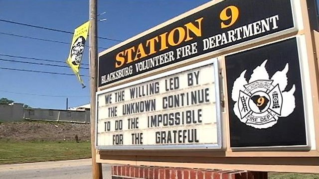 """The sign in question after it was changed to """"grateful"""" Wednesday. (April 16, 2014/FOX Carolina)"""