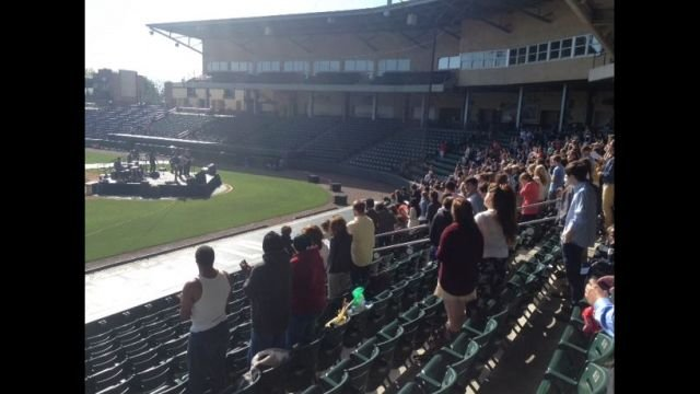 City Lights service at Fluor Field