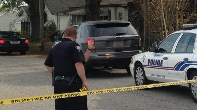 Greenville police responded to Chaney Street to reports of a baby in a trash container on Monday. (April 21, 2014/FOX Carolina)