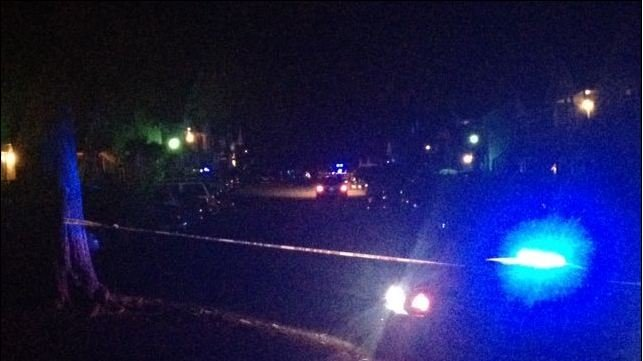 Simpson Road is blocked off by deputies in Anderson. (April 21, 2014/FOX Carolina)