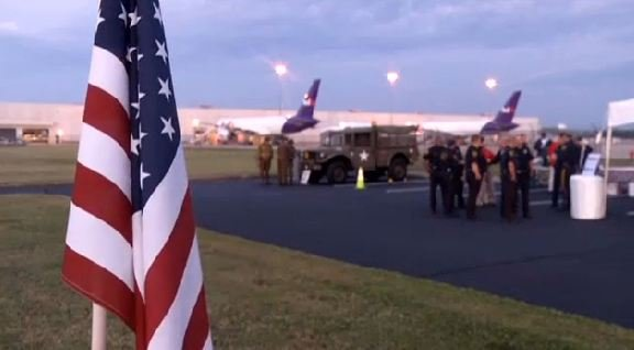 The 12th Honor Flight Upstate gets ready to depart from GSP. (April 22, 2014/FOX Carolina)