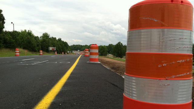 Road construction cones warn drivers. (File/FOX Carolina)
