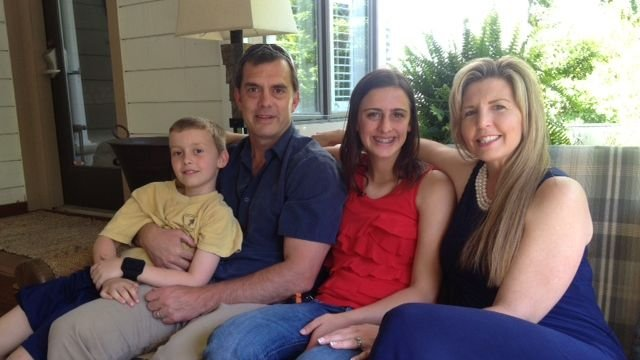Thom Shea with his wife Stacy, daughter Autumn and son Chance. (April 23, 2014/FOX Carolina)