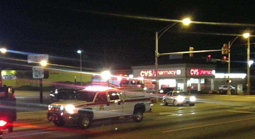 Crews at the scene of the overturned tanker. (April 24, 2014/FOX Carolina)