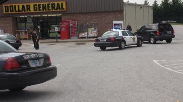 Deputies were called to the store just before 11 a.m. after a man said he had a .22-caliber gun then fled with cash.(April 25, 2014/FOX Carolina iWitness)