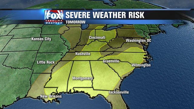 The severe weather threat for Tuesday.