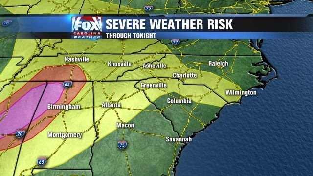 Severe weather for Monday night.