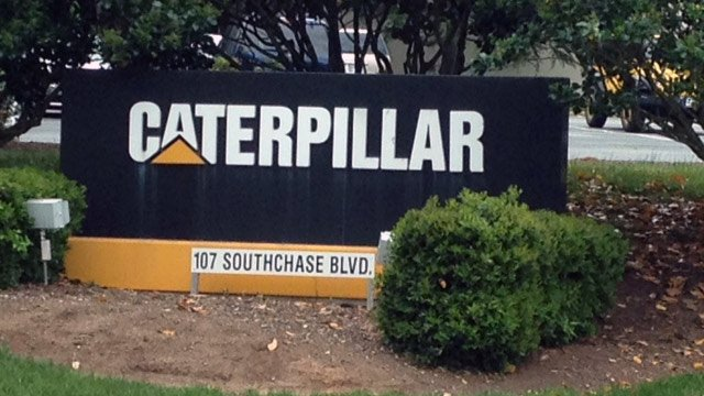 Caterpillar officials say the Fountain Inn facility will close this year. (April 29, 2014/FOX Carolina)