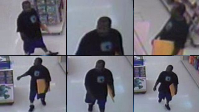 Surveillance pictures from Walmart (Spartanburg Police 2013)