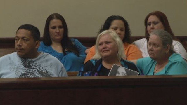 Heather Shannon's family in court Tuesday. (April 29, 2014/FOX Carolina)