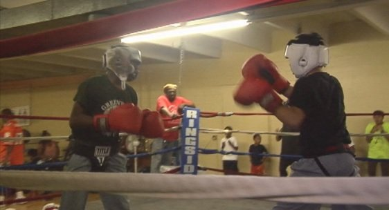 Khalid Johnson, right, and Ernie Cuevas, left, duke it out preparing for Olympic gold (FOX Carolina)