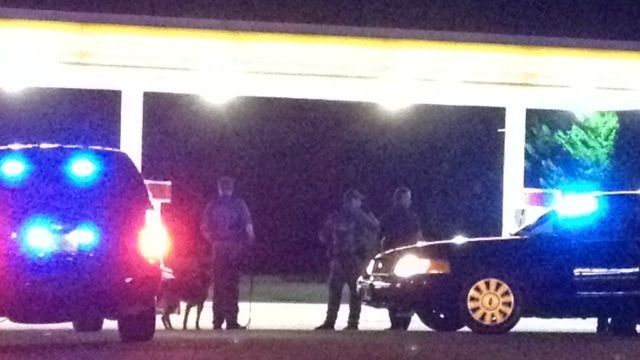 Deputies respond to the Shell Station on River Road. (May 1, 2014/FOX Carolina)