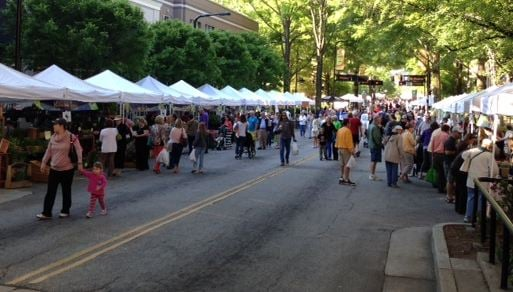 Td saturday market returns to downtown greenville wsfa for Fish market greenville sc