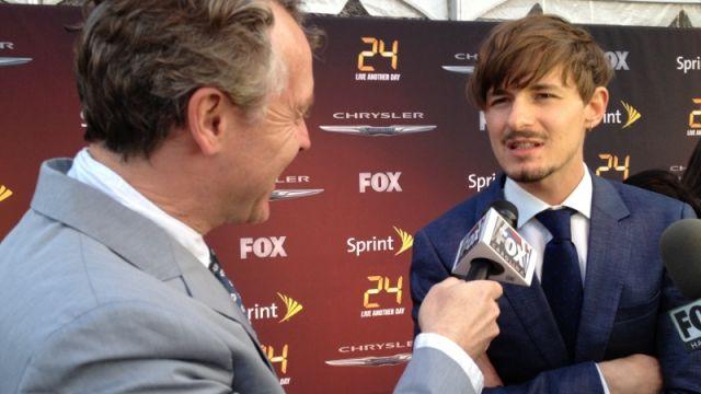 Tate Donovan interviews co-star Giles Matthey. (May 2, 2014/FOX Carolina)
