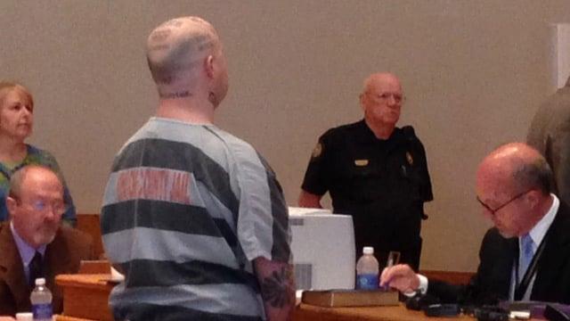 Jeremy Moody in court Tuesday. (May 6, 2014/FOX Carolina)