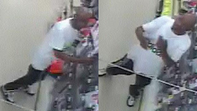 Surveillance photos of the man deputies say tried to rob the store. (Source: Greenville Co. Sheriff's Office)