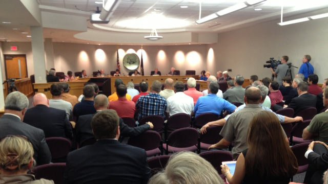 Greenville County Council met to discuss the penny sales tax on Tuesday. (May 6, 2014/FOX Carolina)