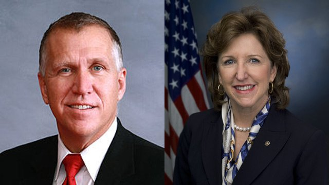 Thom Tillis will challenge Democratic U.S. Sen. Kay Hagan. (Source: Wikipedia)