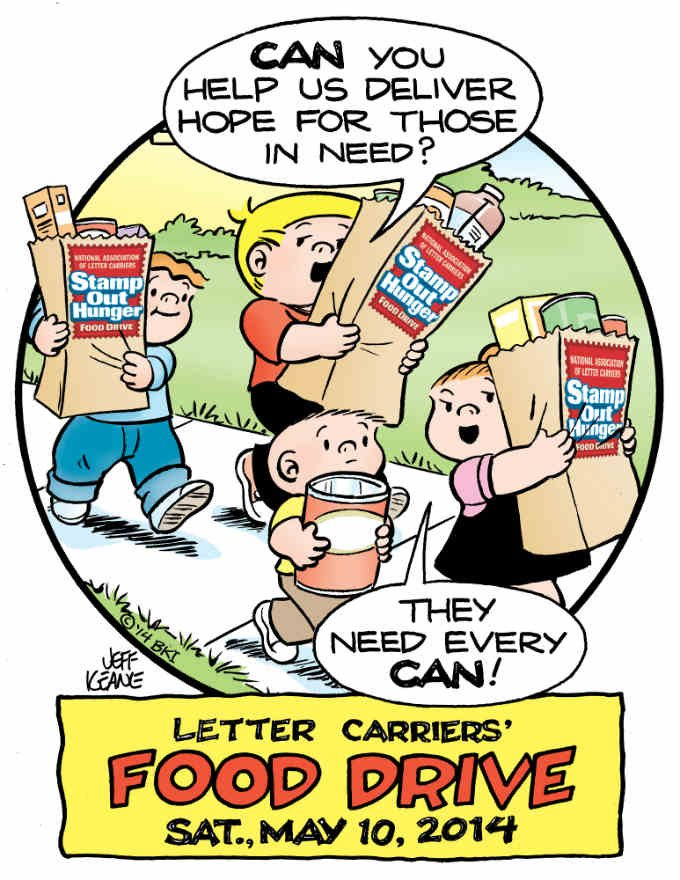 Stamp Out Hunger food drive scheduled for Saturday May 10, 2014. (Courtesy: NALC)