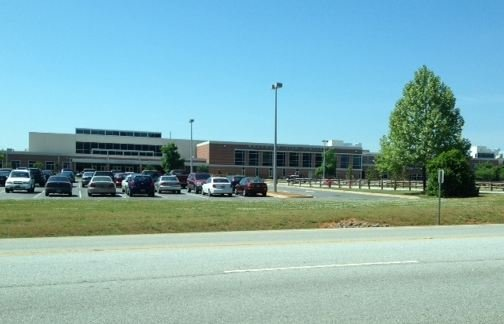 Woodmont HS was placed on lockdown Thursday morning (FOX Carolina)