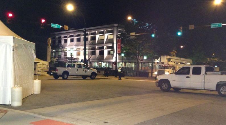 City crews prepare downtown Greenville for Artisphere (FOX Carolina)