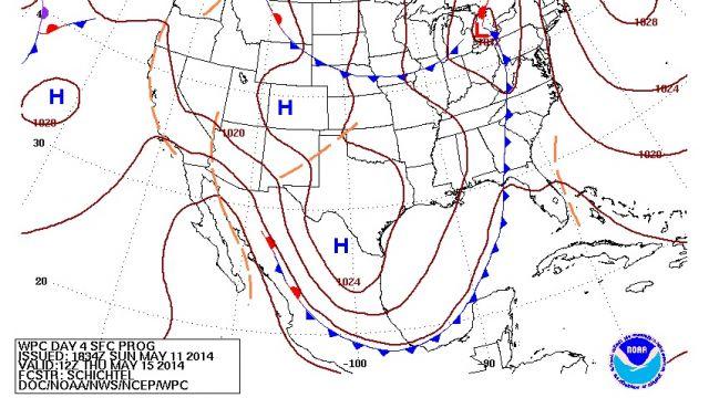 Thursday Morning Surface Map