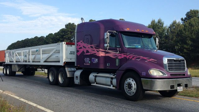 The new specialized tanker truck arrives. (May 13, 2014/FOX Carolina)