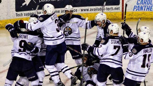 The Road Warriors celebrating Monday's victory. (Source: @GvlRoadWarriors)