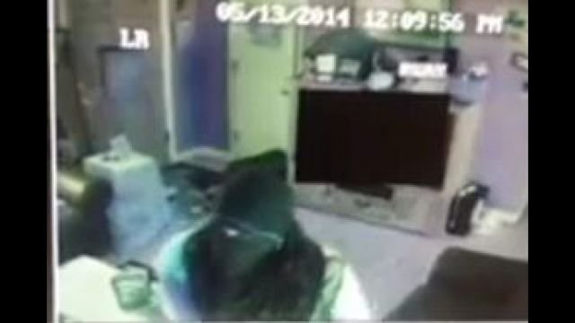 Surveillance video captures a masked thief going through a Greenwood County home.