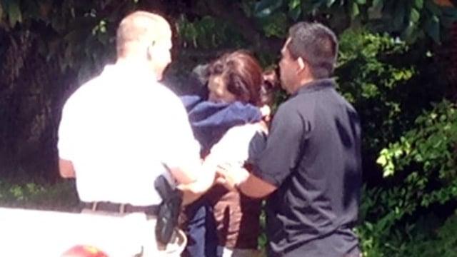 Deputies reunite the boy with his mother. (May 16, 2014/FOX Carolina)