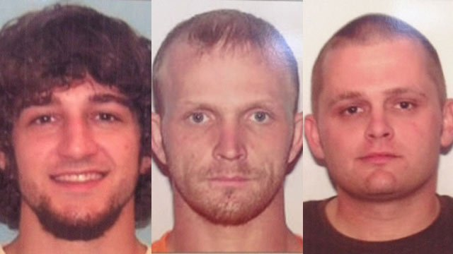 Andrew Moran, Christopher Taylor and William Lyday are still wanted on the indictments. (Source: Pickens Co. Sheriff's Office)