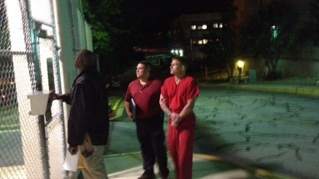 Anthony led into detention center (FOX Carolina)