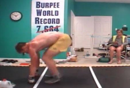 Cameron Dorn performs burpees (Courtesy: Greenwood Calendar/ YouTube)