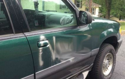 Spray painted car (FOX Carolina)
