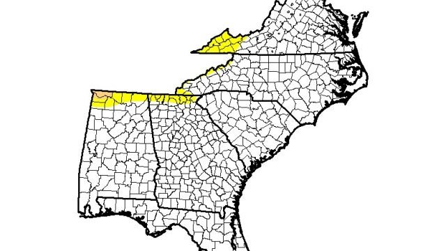 U S Drought Monitor Yellow Is Abnormally Dry