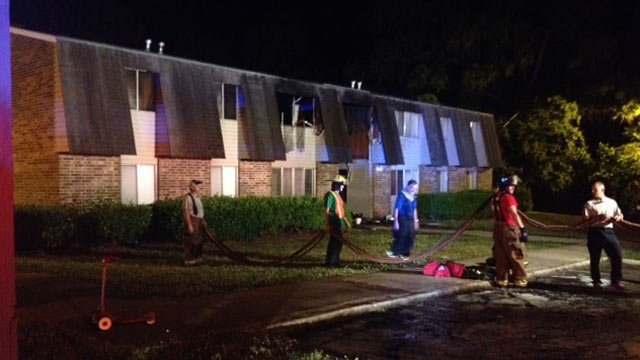 Eight apartments were involved in the fire at Oakland Apartments in Abbeville. (May 19, 2014/FOX Carolina)