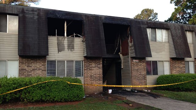 Eight apartments were involved in the fire at Oakland Apartments in Abbeville. (May 20, 2014/FOX Carolina)