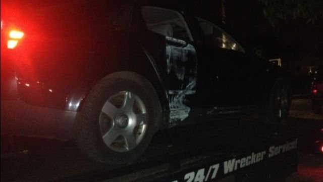 Car that crashed into house.  (May 19, 2014/FOX Carolina)